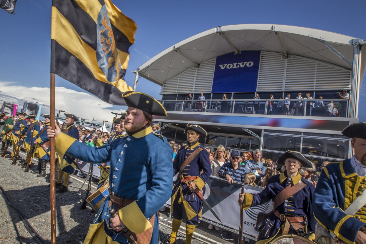 June 21, 2015. Crowds in the opening day of the Race Village welcoming the Swedish Ship Götheborg.