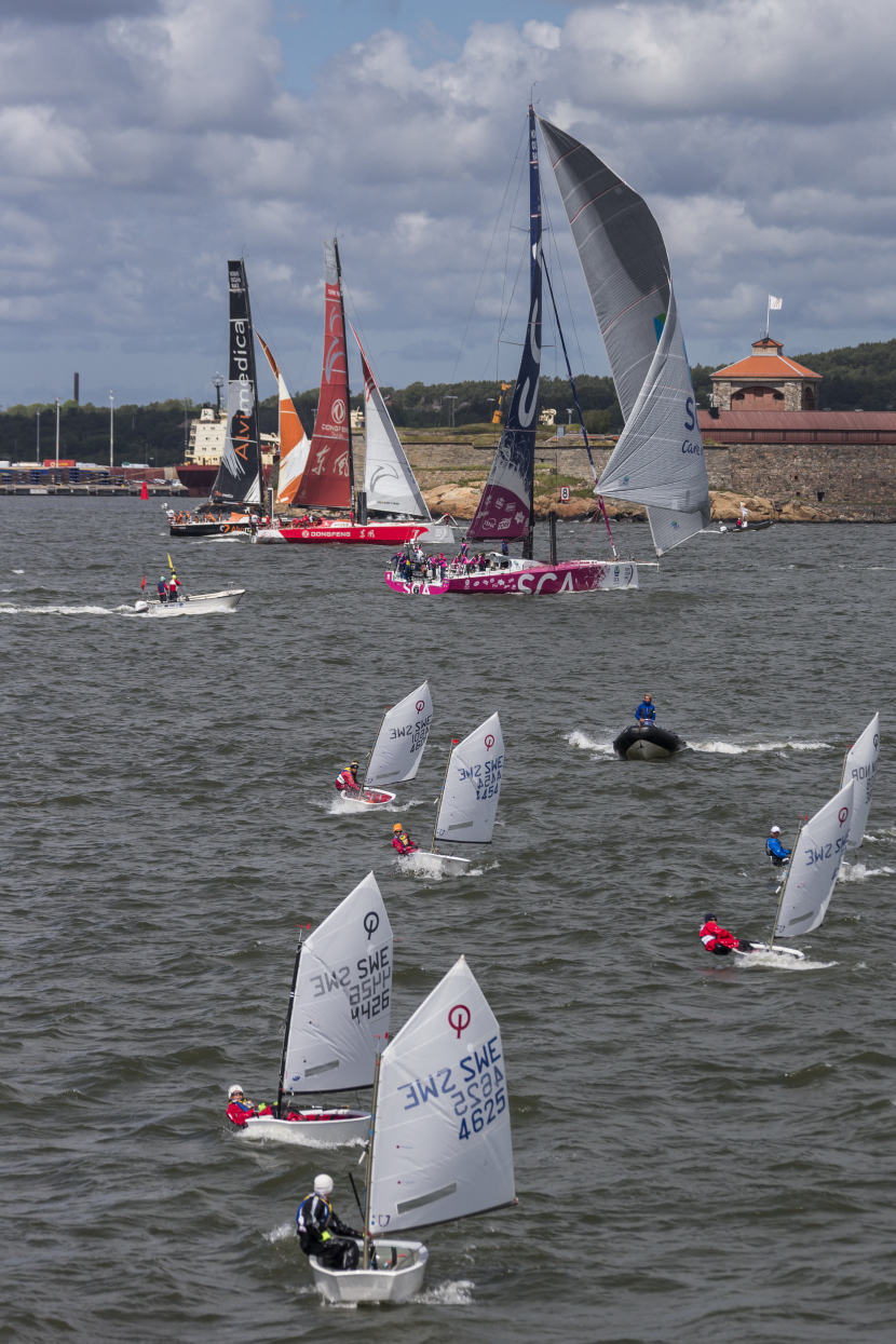 June 25, 2015. Practice Race in Gothenburg, last stopover of the Volvo Ocean Race 2014-15.